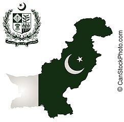 Pakistan Flag - Flag and national emblem of the Islamic...