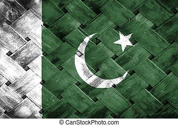 Pakistan flag , Pakistan flag on Weave Bamboo