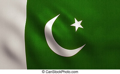Pakistan Flag - Pakistan flag with fabric texture. 3D ...