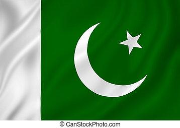 Pakistan flag - Pakistan national flag background texture.
