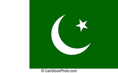 Pakistan Flag  - Vector Illustration