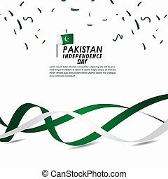 Pakistan Independence Day Celebration Vector Template Design Illustration