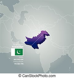 Pakistan information map.