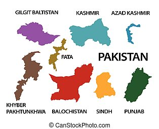 Pakistan map and its provinces