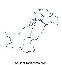 Pakistan map in outline
