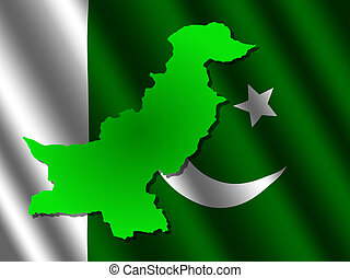 Lahore on pakistan map  Map of pakistan with position of