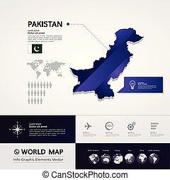 Pakistan Map vector