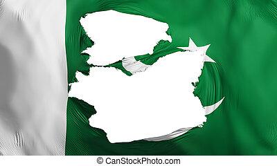 pakistan markierungsfahne, zerfetzt