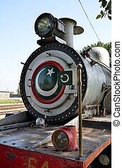 pakistan, moteur, vapeur, drapeau