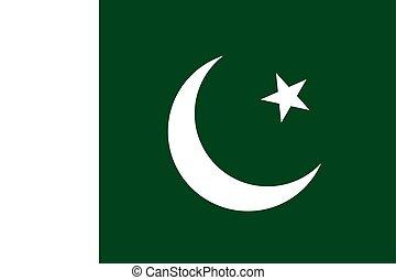 Pakistan national flag. Vector illustration. Islamabad. Eps...