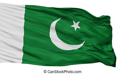 Pakistan Naval Ensign Flag Isolated Seamless Loop