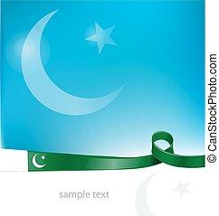 pakistan ribbon flag