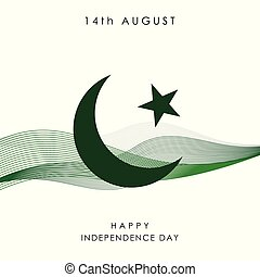 pakistan, vector, ontwerp, dag, onafhankelijkheid