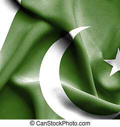 Pakistan waving flag