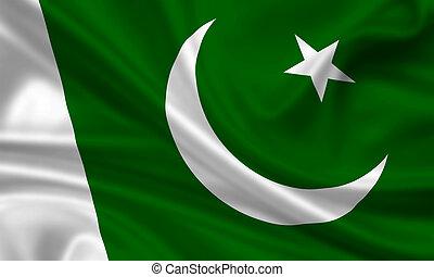 Pakistan - waving flag of pakistan