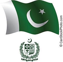 pakistan wavy flag and coat