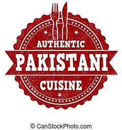 Pakistani cuisine sign or stamp - Pakistani cuisine grunge...