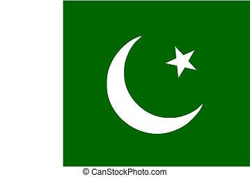 Pakistani flag and language icon - isolated vector...