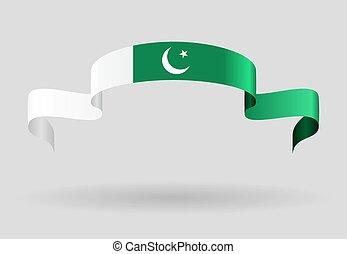 Pakistani flag background. Vector illustration. - Pakistani...