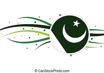 Pakistani flag banner illustration design.