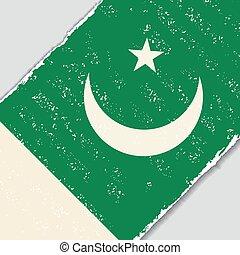 Pakistani grunge flag. Vector illustration. - Pakistani...