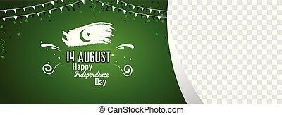 Pakistani Independence Day Sale Banner Cover Poster Vector...