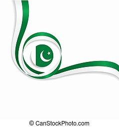 Pakistani wavy flag background. Vector illustration. -...