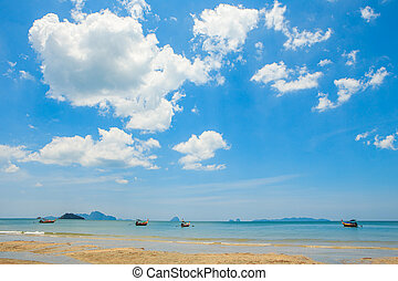 Pakmeng beach in the southern of Thailand.