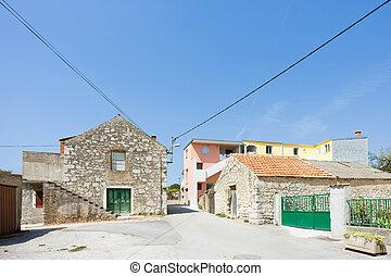 pakostane, kroatien, -, traditionelle , landwirtschaft,...