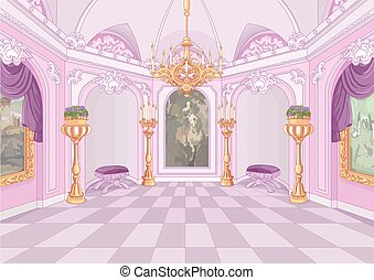 palác, jídelna