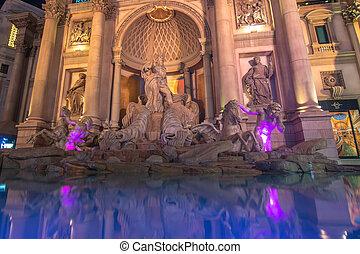 palácio, caesar's, hotel, fontes, famosos, exterior, vegas, faixa, ceasar's, nevada., las