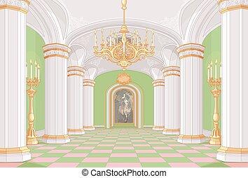 palácio, corredor