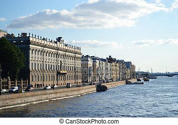 Palácio, dique, vista