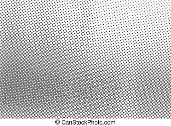 palîr, résumé, effet, gradation, halftone, mouvement, arrière-plan noir, blanc, texture., point