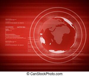 PAL. Digital world with Globe.