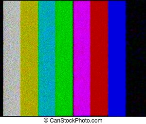 PAL - TV test. Color bars crash with audio