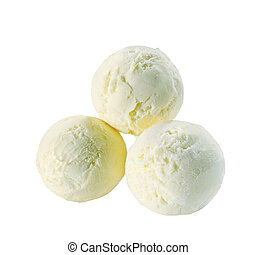 pala, helado de vainilla