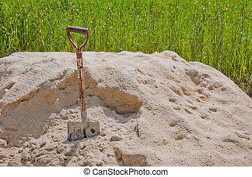 pala, in, sabbia