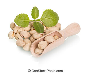 pala madera, nueces, pistacho