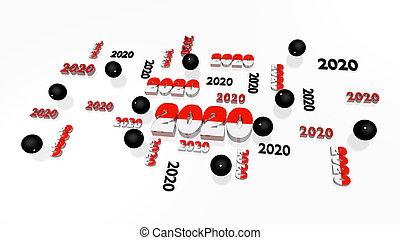 pala, mehrere, kugeln, einige, 2020, pelote, entwürfe