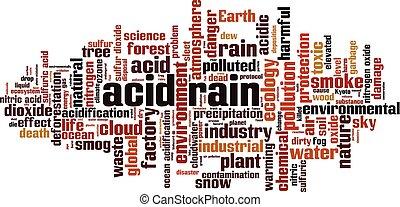 palabra, ácido, nube, lluvia