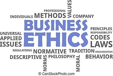 palabra, éticas, -, nube, empresa / negocio