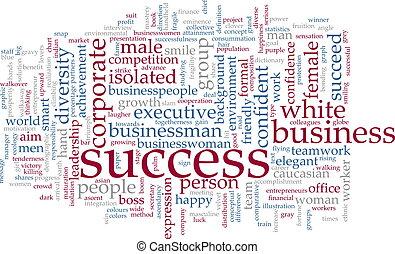 palabra, éxito, nube