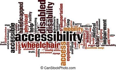 palabra, accesibilidad, nube
