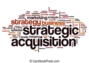 palabra, adquisición, nube, estratégico