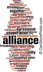 palabra, alianza, nube
