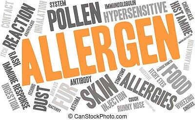 palabra, allergen, nube