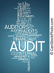 "palabra, ""audit"", nube"