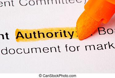 palabra, autoridad