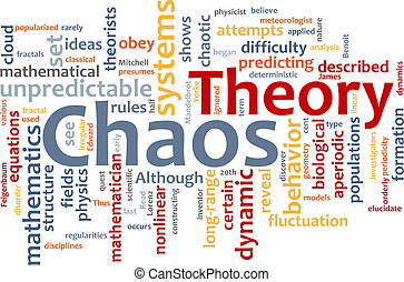 palabra, caos, nube, teoría